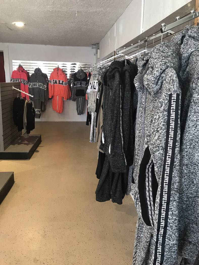 Jeffrey Meehan/Pahrump Valley Times Off the Street, a new clothing store in Pahrump, has several options for those cool-weather needs. A new spring line is just around the corner.