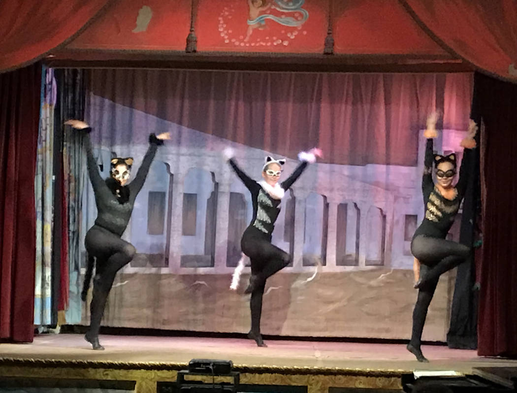 Robin Flinchum/Special to the Pahrump Valley Times Fossemalle Dancers in the Stray Cat Strut, honoring the many stray cats who found a home at Death Valley Junction during Becket's 50 year tenure.