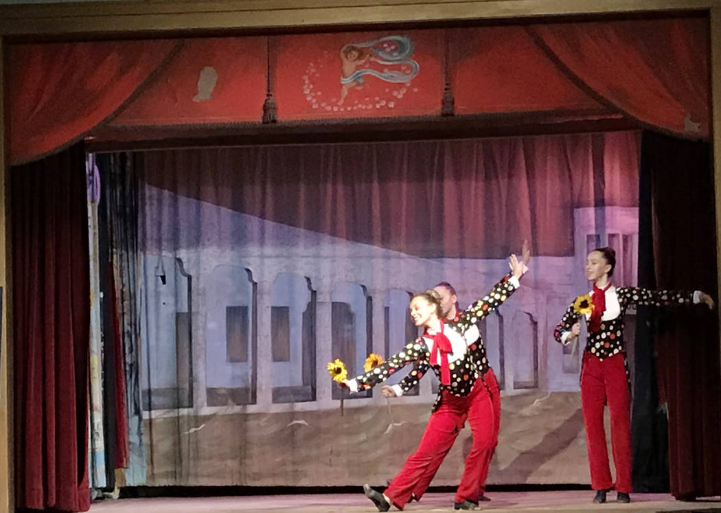 Robin Flinchum/Special to the Pahrump Valley Times One of the performances of the Marta Becket tribute was the dance honoring Becket's lifelong love of the circus.