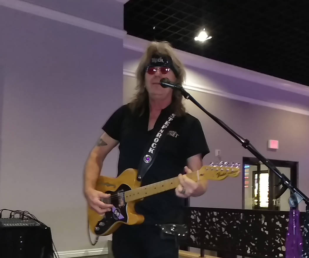 Selwyn Harris/Pahrump Valley Times Rocky Jackson has played the guitar for more than 30 years. His influences are from the early rock era of Elvis Presley, Chuck Berry, the Rolling Stones and the ...