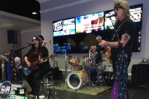 Selwyn Harris/Pahrump Valley Times Stefani Savage, left and Rocky Jackson of STEFnROCK first met in Las Vegas during an open mic event at the Cellar Lounge back in 2012. The duo performed before a ...