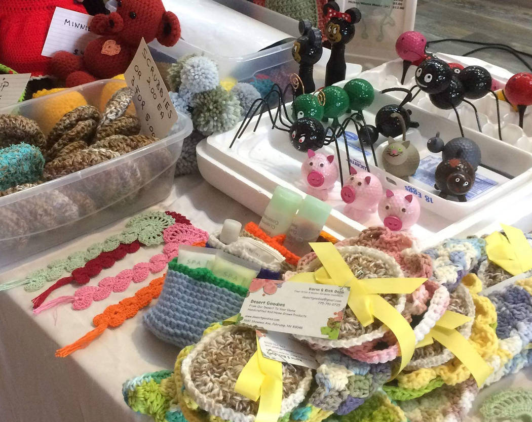 Special to the Pahrump Valley Times Upwards of 25 vendors have signed up to take part in this year's Gingerbread Productions Arts and Crafts Fair. Founder Ginger Forbes said all are residents of P ...