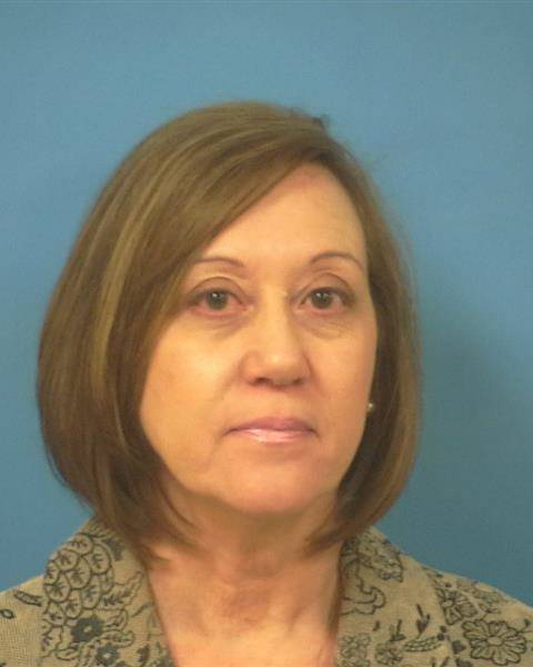 Nye County Sheriff's Office/Special to the Pahrump Valley Times Booking photo for Angela Evans. Evans, named CEO of Valley Electric Association in October 2018, was arrested Tuesday evening for em ...