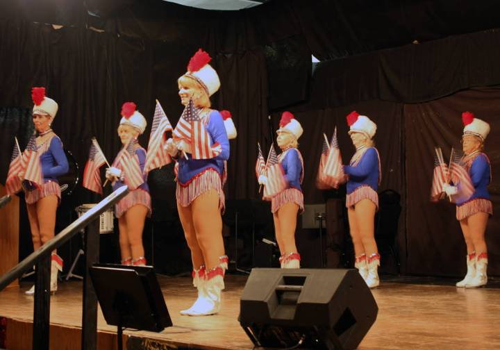 Robin Hebrock/Pahrump Valley Times The Nevada Silver Tappers had the honor of opening the USO Show with the first performance of the evening.