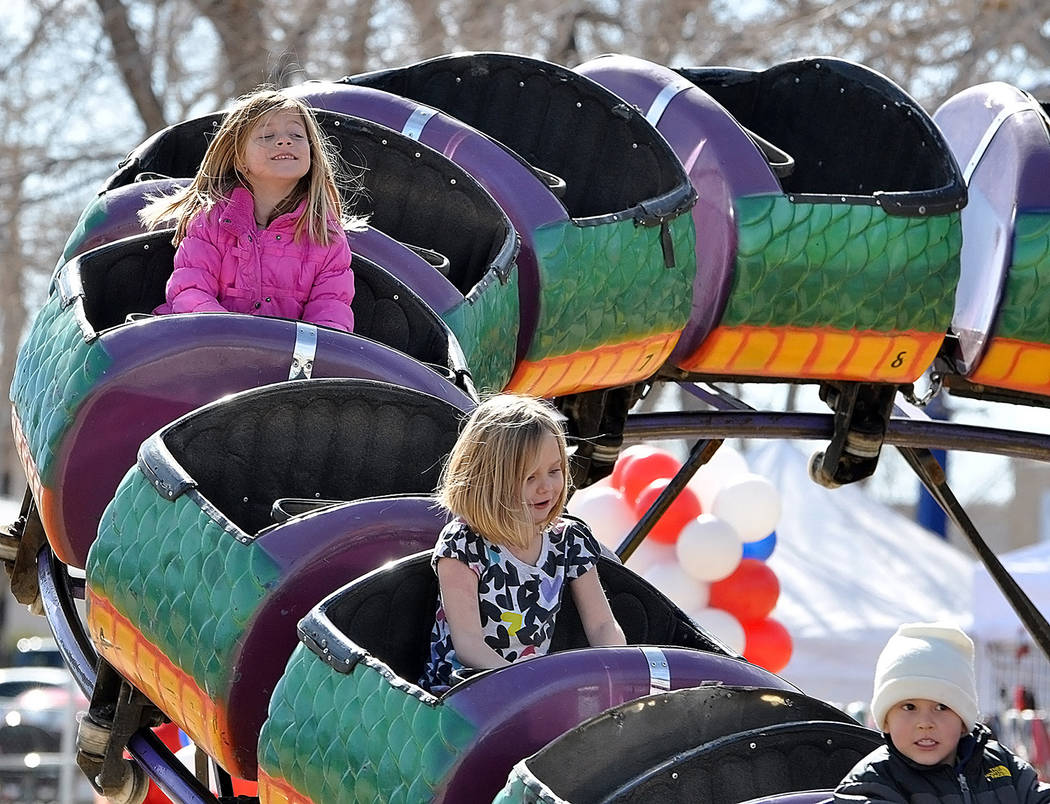 Horace Langford Jr./Pahrump Valley Times Children of all ages were able to enjoy the carnival at the Balloon Festival, with a variety of kiddy rides available for the youngest of attendees.