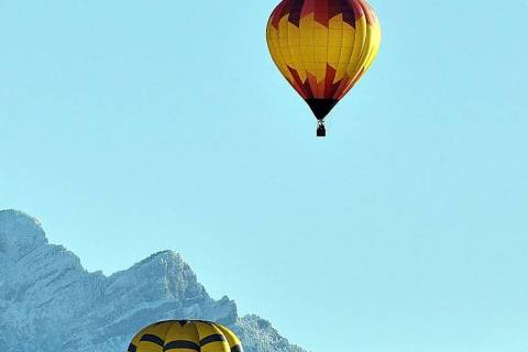 Horace Langford Jr./Pahrump Valley Times Balloons floated serenely over the valley throughout the Pahrump Balloon Festival, creating an eye-catching sight for residents and visitors alike.