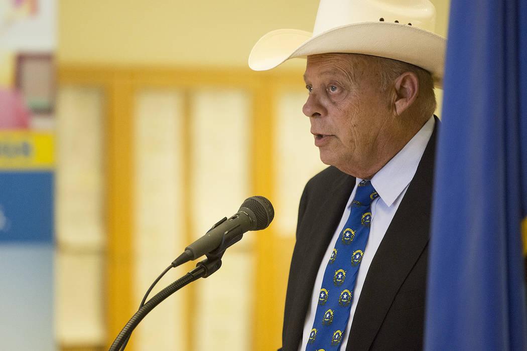 Bridget Bennett Las Vegas Review-Journal @bridgetkbennett Assembly GOP leader Jim Wheeler speaks at Grant Sawyer State Office Building on Thursday, Sept. 21, 2017, in Las Vegas.