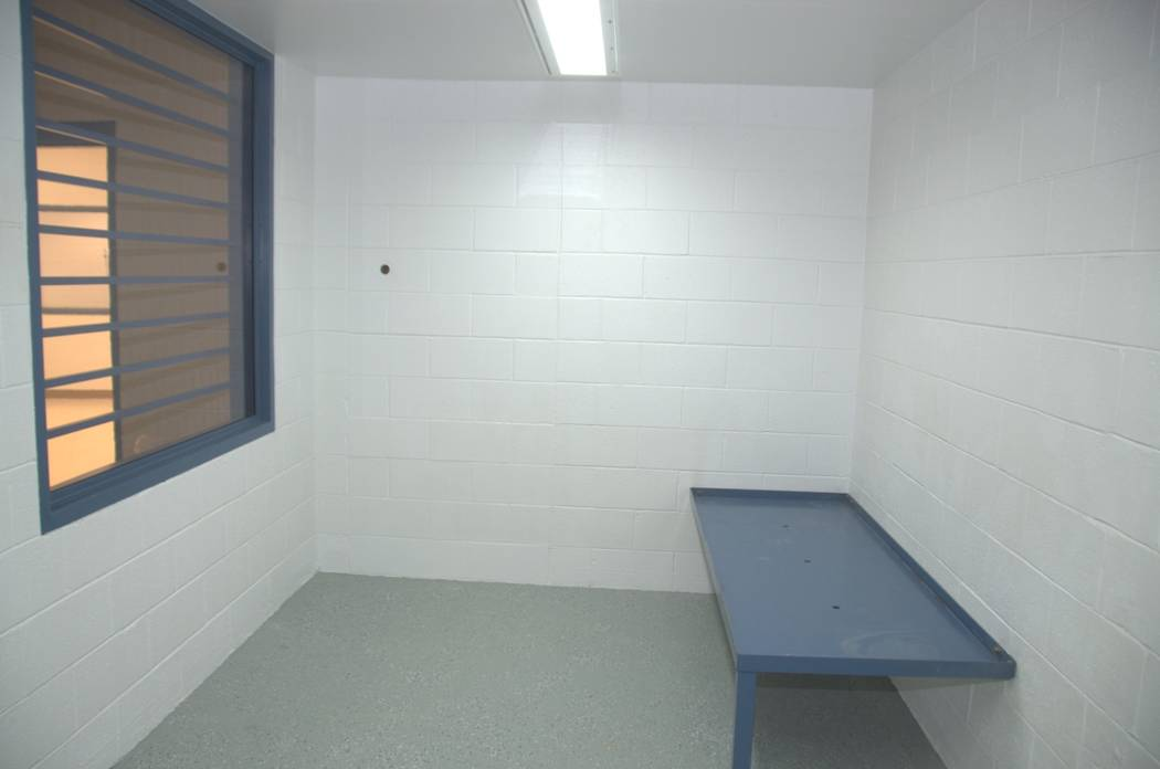 "The holding cell, or ""last night cell"" where the inmate is kept before the execution. Courtesy the Nevada Department of Corrections"