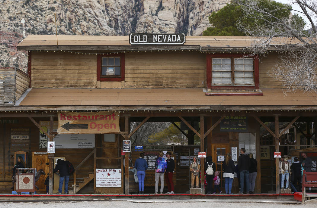 Visitors at Bonnie Springs Ranch outside of Las Vegas on Saturday, Jan. 12, 2019. The Clark County Planning Commission early Wednesday, Feb. 20, 2019, unanimously approved a plan to build 20 homes ...