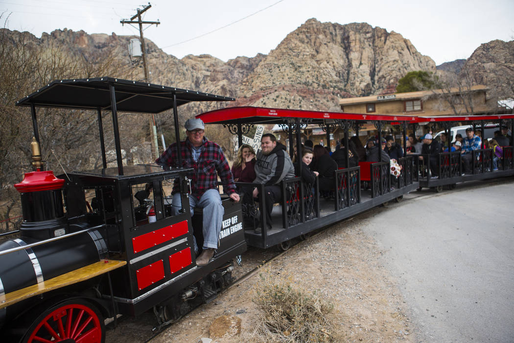 Visitors enjoy a train ride at Bonnie Springs Ranch outside of Las Vegas on Saturday, Jan. 12, 2019. The Clark County Planning Commission early Wednesday, Feb. 20, 2019, unanimously approved a pla ...