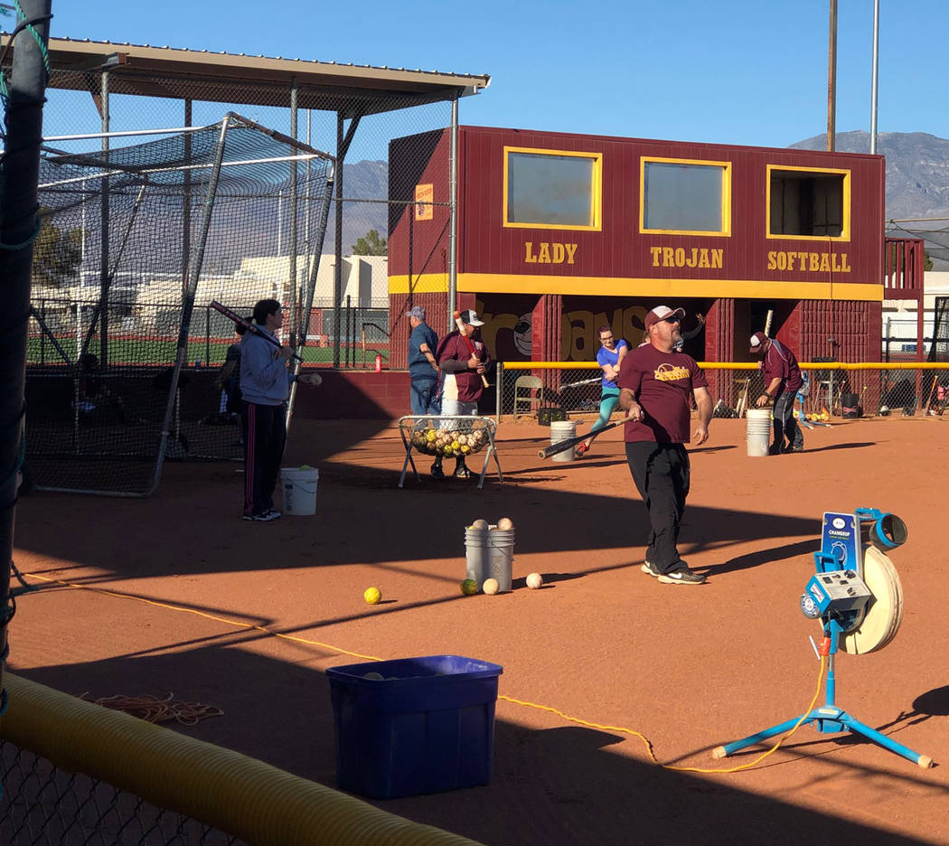 """Tom Rysinski/Pahrump Valley Times """"Controlled chaos"""" is how Pahrump Valley High School coach Cassondra Lauver describes her team's practices in preparation for their season-opening tournament in N ..."""