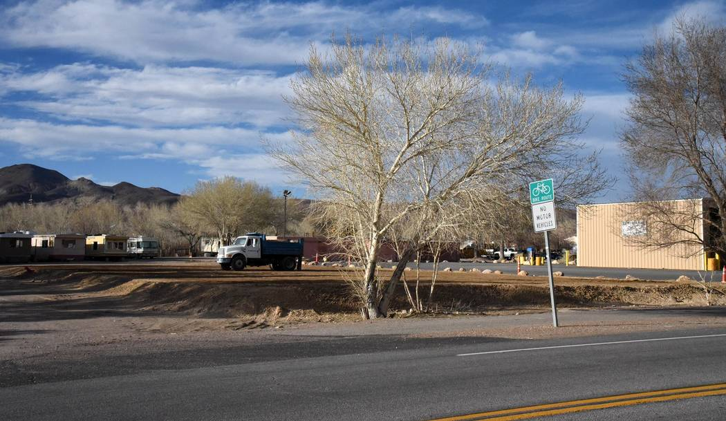 Richard Stephens/Special to the Pahrump Valley Times The site where work has begun to build a hardware store and a restaurant.