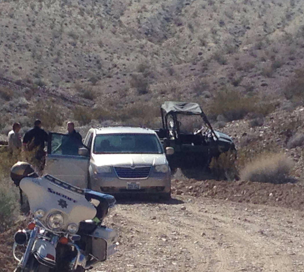 Special to the Pahrump Valley Times A couple walking their dogs in the desert off of Charleston Park Avenue and Warren Street discovered the body of a man in an overturned off-road vehicle on Thur ...
