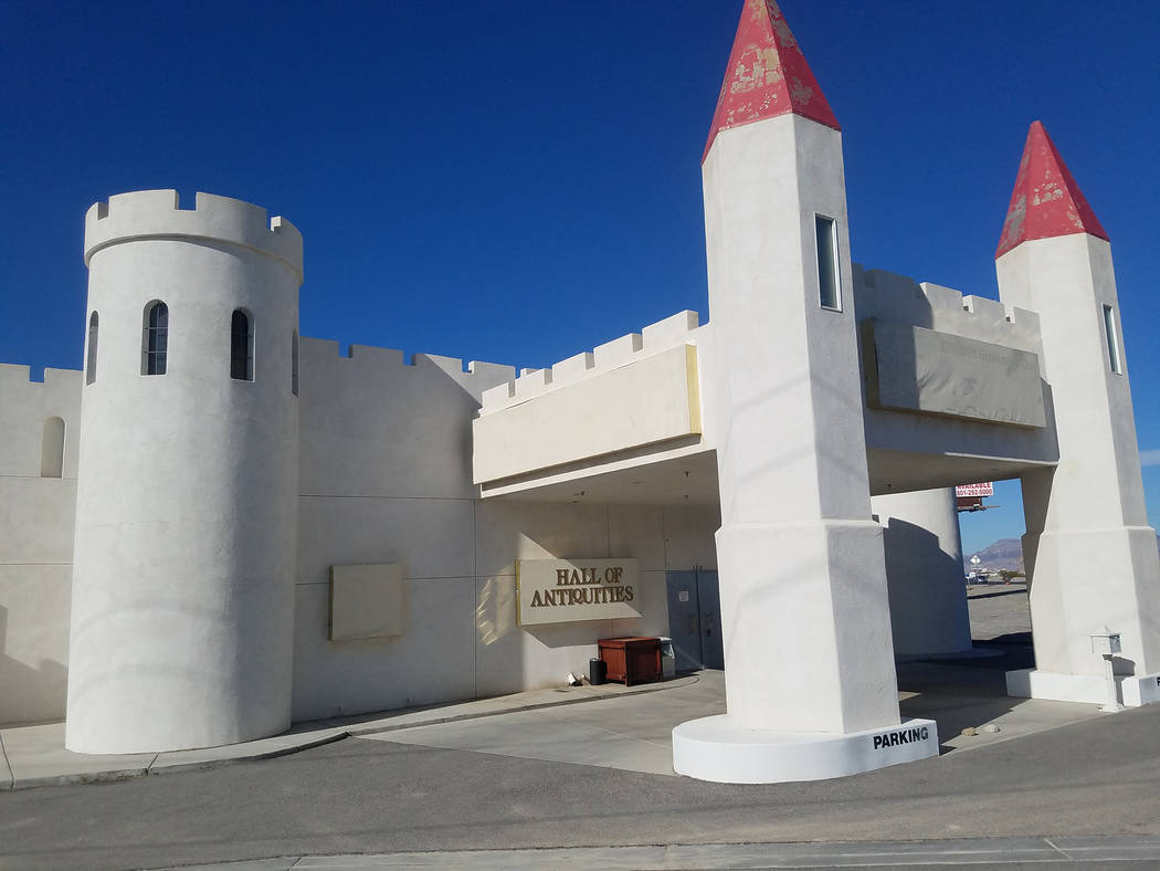 David Jacobs/Pahrump Valley Times Pictured is a castle-style building at Highway 160 and Homestead Road as shown in January 2018. The building is set for demolition.