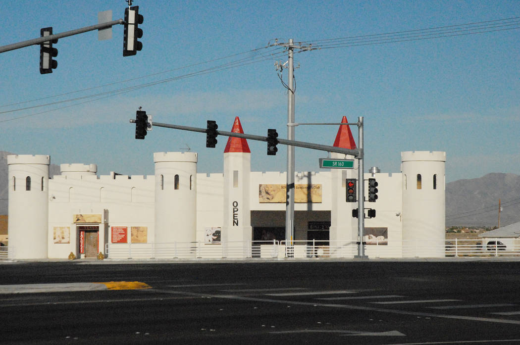 Horace Langford Jr. / Pahrump Valley Times The castle-style building at the corner of Homestead Road and Highway 160 will soon be eliminated from Pahrump's main drag. An owner of the property at ...