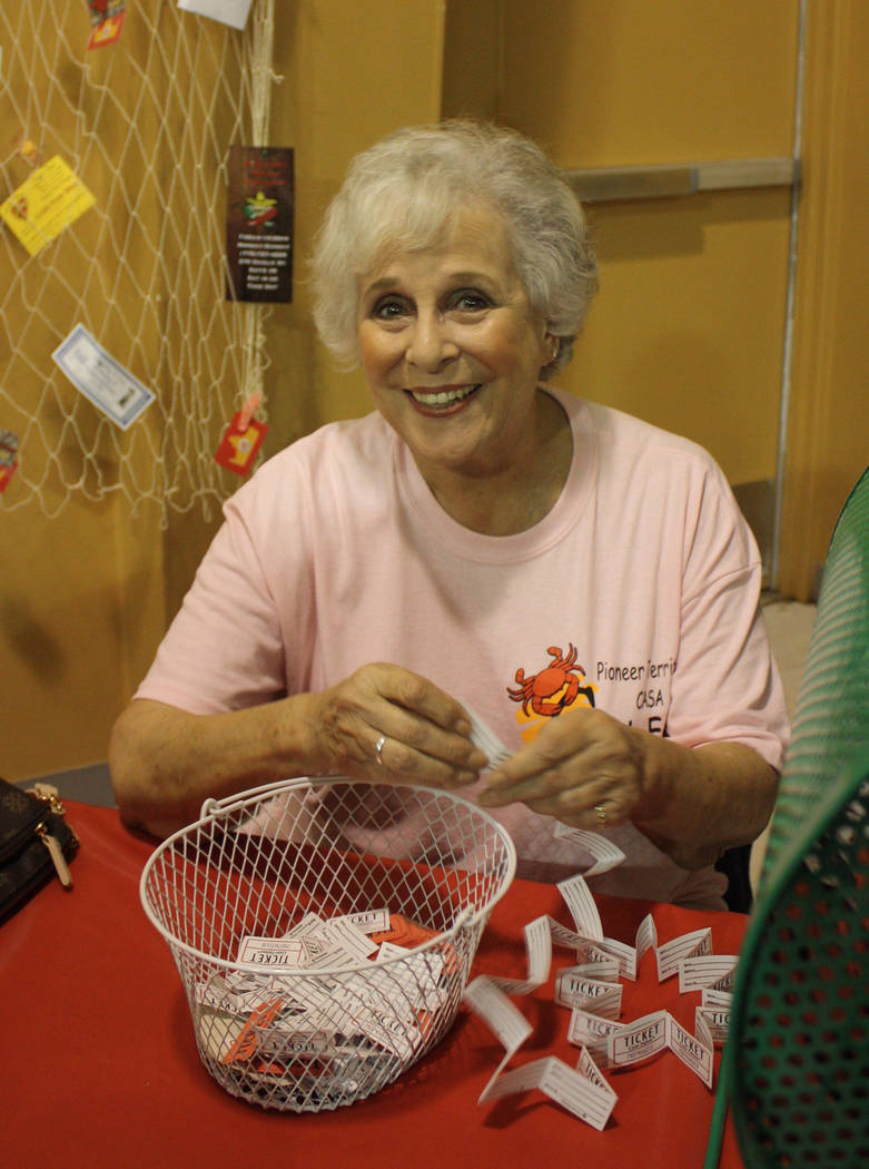 Robin Hebrock/Pahrump Valley Times Former CASA Executive Director Willi Baer may have stepped down from that position but she is still a huge supporter of the organization. She is pictured handlin ...