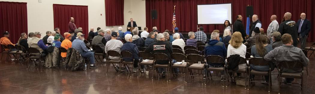 Richard Stephens/Special to the Pahrump Valley Times The District 3 annual meeting was the first time for Valley Electric Association executives and board members to face members in Beatty since t ...