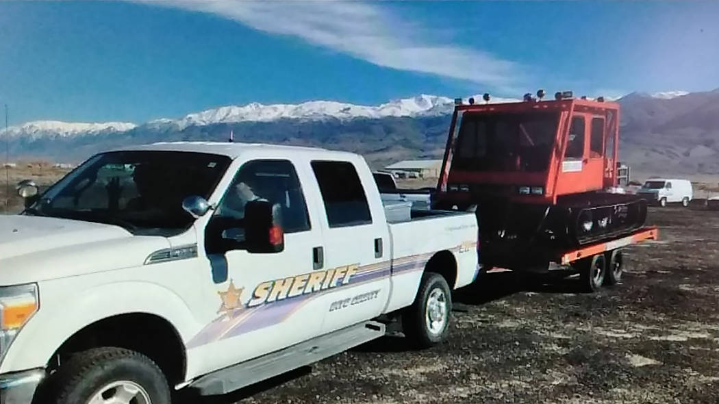 Special to the Pahrump Valley Times The Inyo County Sheriff's Office is utilizing what's known as a Snowcat to rope-tow search and rescue team members on skis in an effort to locate Marine Corps L ...