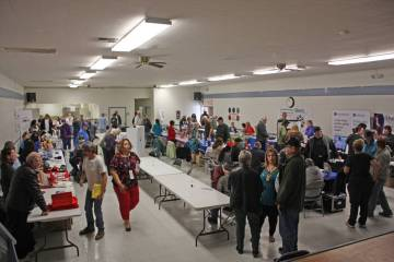 Robin Hebrock/Pahrump Valley Times The Bob Ruud Community Center was teeming with area residents during the 3rd Annual Veterans Extravaganza, held March 8.