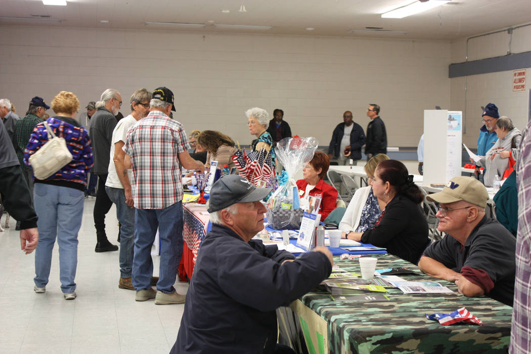 Robin Hebrock/Pahrump Valley Times Veterans were able to connect with all sorts of organizations and entities at the Veterans Extravaganza, such as the Disabled American Veterans Chapter #15, pict ...