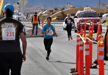 Horace Langford Jr./Pahrump Valley Times Runners from the Riverside, California, Sheriff's Department and the U.S. Attorneys Office were the first to reach the checkpoint at Highway 372 and Blagg ...