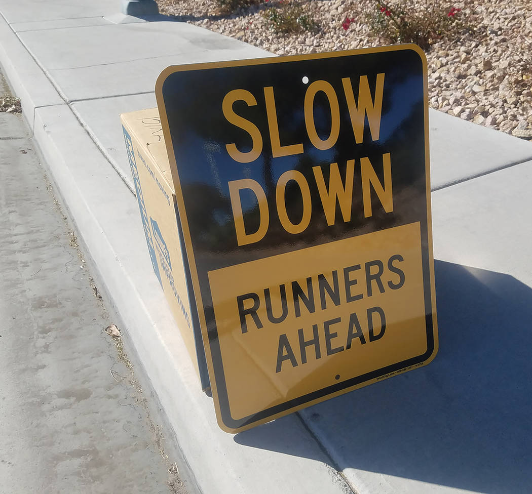 David Jacobs/Pahrump Valley Times Motorists driving Saturday in Pahrump will have to be wary of the Baker to Vegas Challenge Cup Relay, which will send runners along Highways 372 and 160 in Pahrum ...