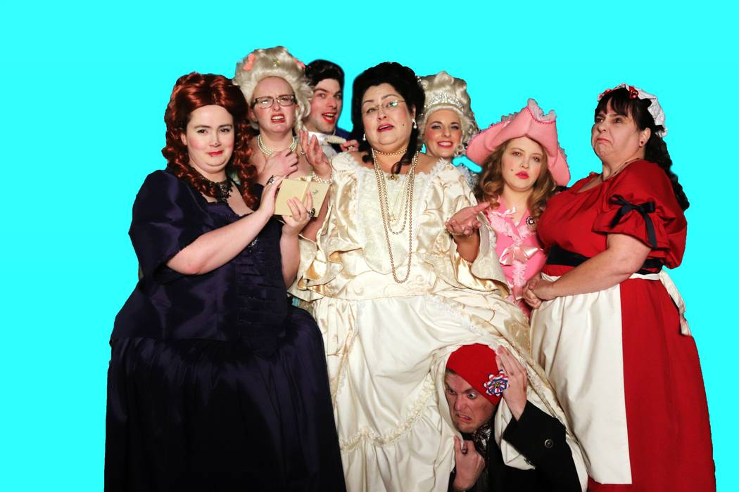 """Daniel Stallings / Special to the Pahrump Valley Times The cast of """"Eat Cake, """" a murder mystery opening for a four-week run at the Amargosa Opera House, in costume for the show."""