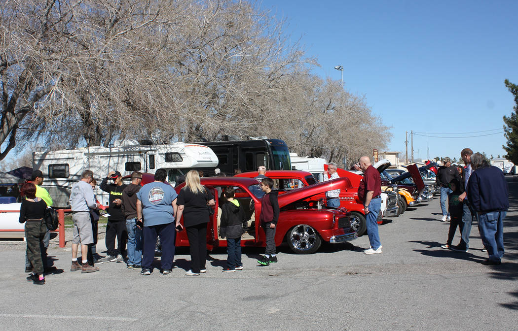 Robin Hebrock/Pahrump Valley Times The Silver State Chili Cook-off featured a car show with dozens of autos of all shapes and sizes, drawing large crowds of observers.