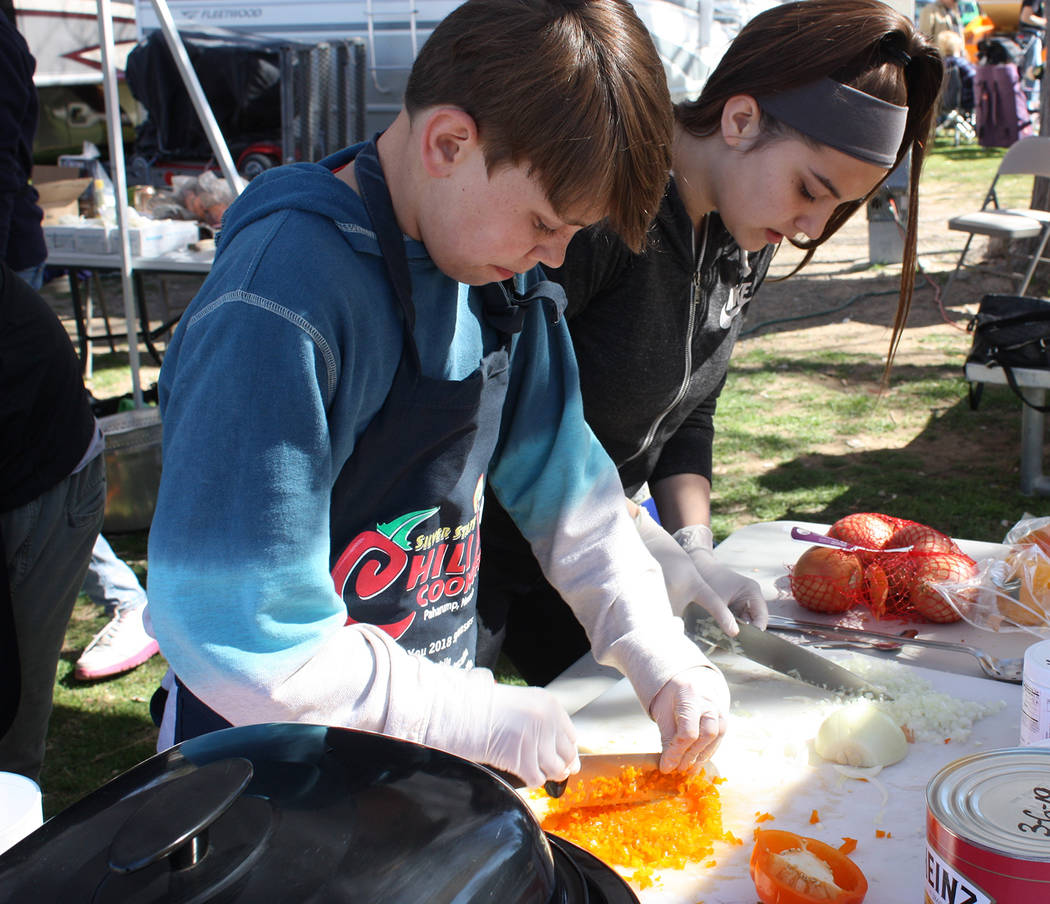Robin Hebrock/Pahrump Valley Times The Silver State Chili Cook-off included a youth division this year, allowing youngsters to get in on the culinary action.