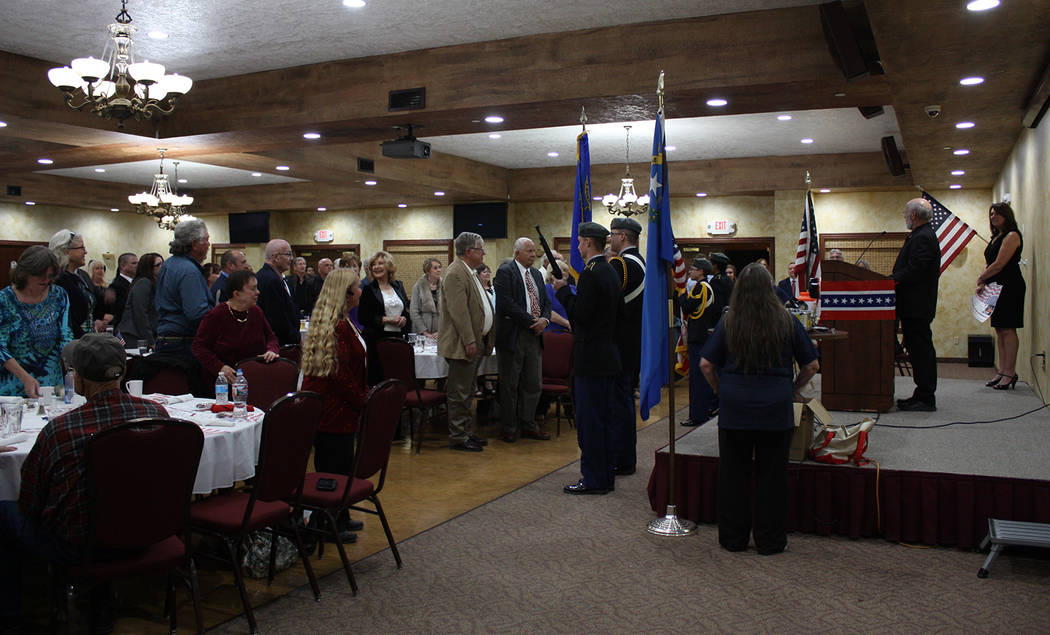 Robin Hebrock/Pahrump Valley Times A large crowd of nearly 150 Republicans gathered for the 40th Annual Lincoln Day Dinner, hosted March 15.