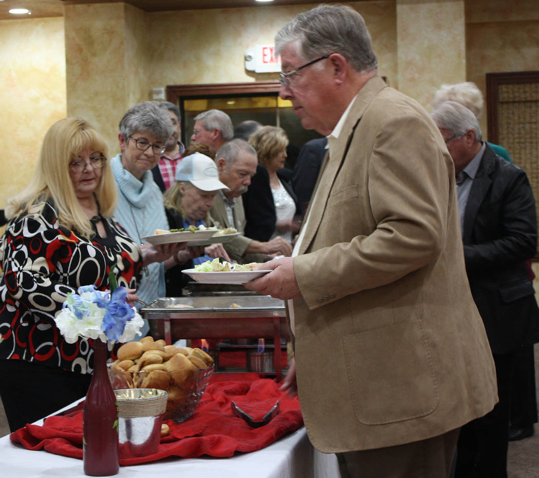 Robin Hebrock/Pahrump Valley Times The Lincoln Day Dinner included a buffet-style meal.