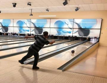 Tom Rysinski/Pahrump Valley Times Anthony Matassa of Pahrump shows off the form that allowed him to bowl perfect games March 15-16 at the Pahrump Nugget Bowling Center.