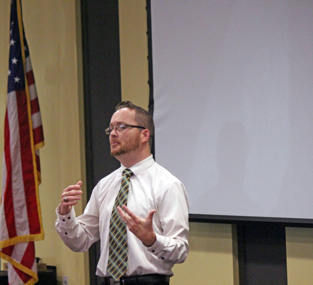 Jeffrey Meehan/Pahrump Valley Times Justin Curnutt, owner of Pahrump Health and Wellness, is a member of the Pahrump Valley Academy Board of Directors.