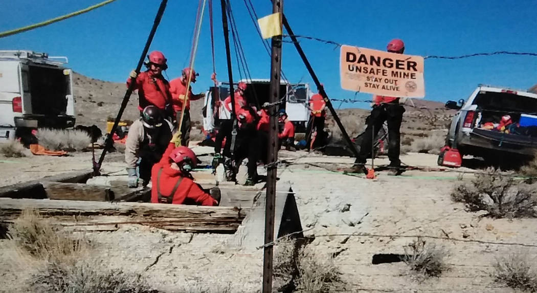 Special to the Pahrump Valley Times On March 16, Nye County Sheriff's Office deputies and detectives, were assisted by the Washoe County Sheriff's Office's Hasty Rescue Mine Recovery team. I ...