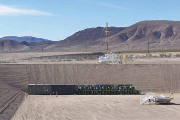 Photo courtesy Department of Energy A half metric ton of weapons-grade plutonium was secretly shipped from South Carolina to the Nevada National Security Site, located about 65 miles northwest of ...