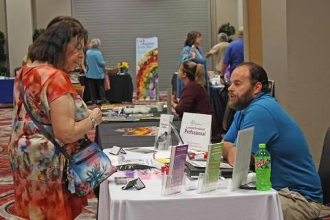 Robin Hebrock/Pahrump Valley Times Nevada Health Link Exchange Enrollment Facilitator DJ Mills ...