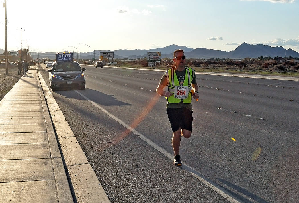 Horace Langford Jr./Pahrump Valley Times A California Highway Patrol officer from the Santa Fe ...