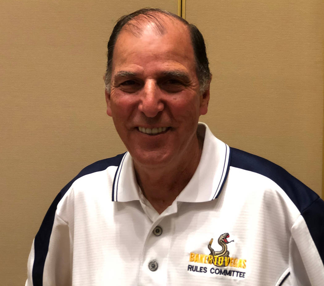 Tom Rysinski/Pahrump Valley Times Baker to Vegas Challenge Cup Relay co-founder Chuck Foote, 72 ...