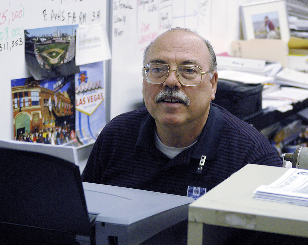 Horace Langford Jr./Pahrump Valley Times Rod Poteete takes on his last day as a teacher at Pahr ...