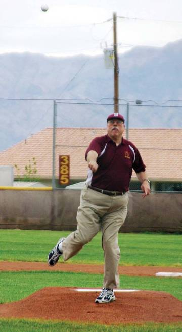 Horace Langford Jr./Pahrump Valley Times Former Pahrump Valley High School baseball coach Rod P ...