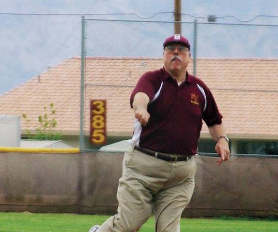 Horace Langford Jr./Pahrump Valley Times Former Pahrump Valley High School baseball coach Rod P ...