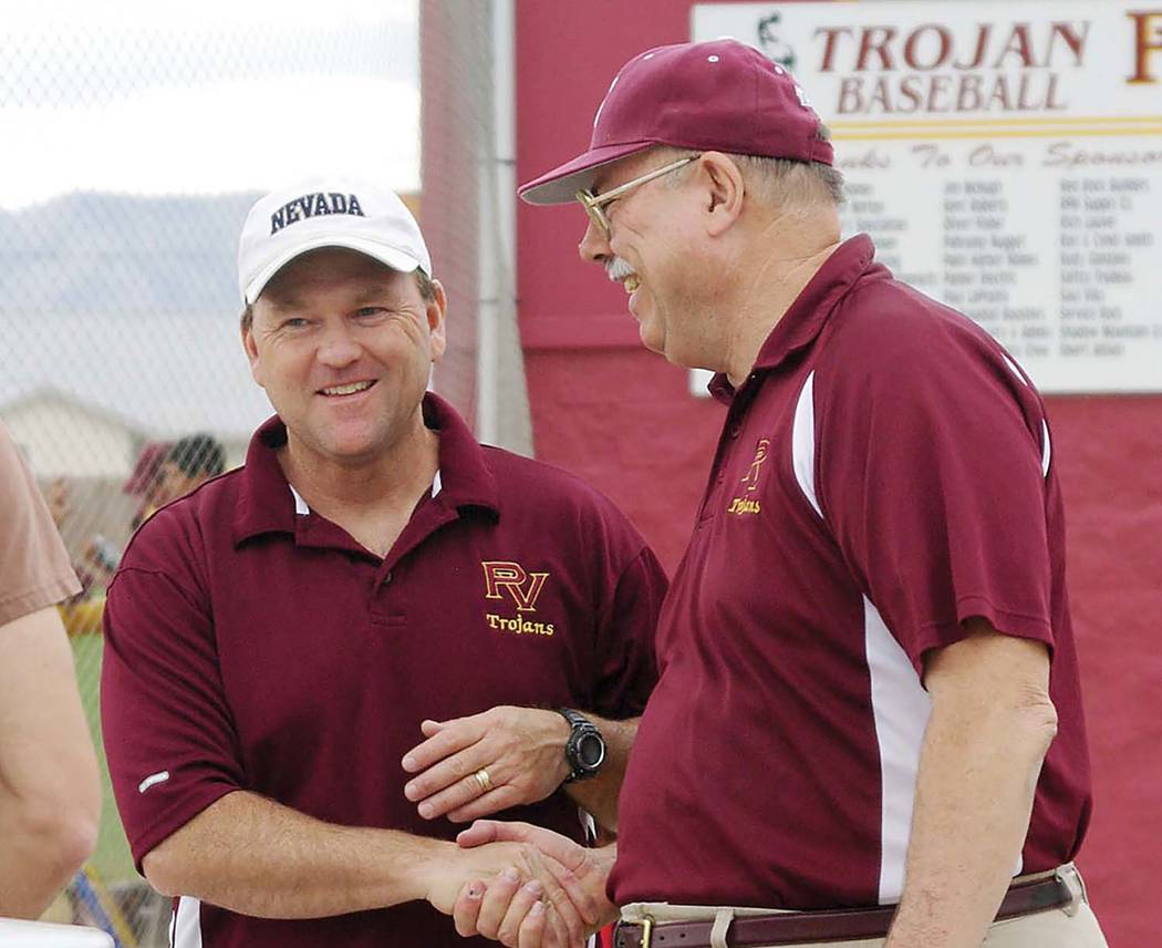 Horace Langford Jr./Pahrump Valley Times Pahrump Valley High School Athletics Hall of Fame memb ...