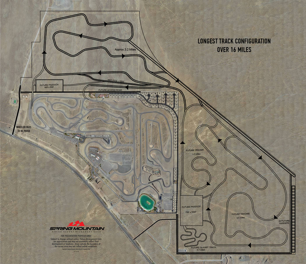 Spring Mountain Motor Resort and Country Club A rendering of the planned racetrack expansion pl ...