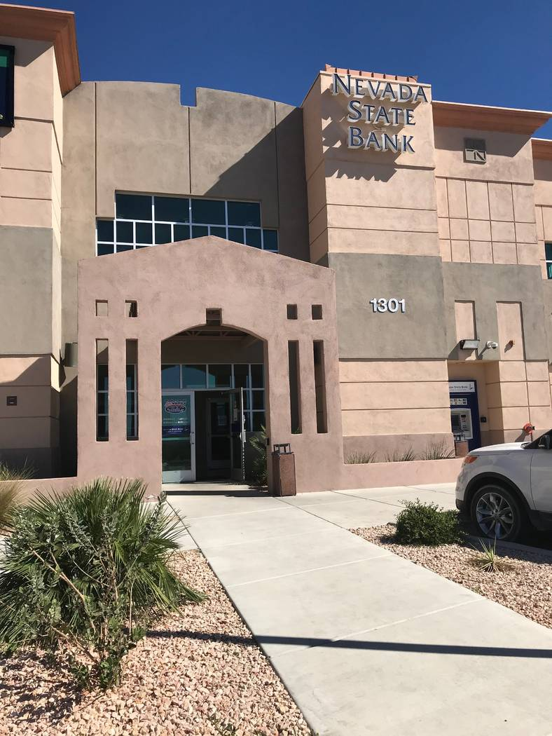 Jeffrey Meehan/Pahrump Valley Times Nevada State Bank at 1301 S. Highway 160 in Pahrump as show ...