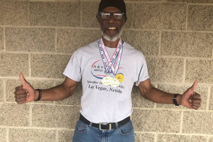 Tom Rysinski/Pahrump Valley Times Marvin Caperton of Pahrump won three gold medals in track and ...