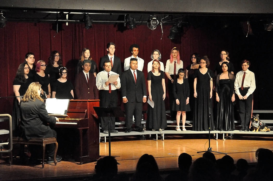 Horace Langford Jr./Pahrump Valley Times The Pahrump Valley High School Music Department held ...