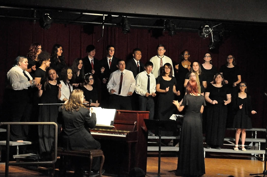 Horace Langford Jr./Special to the Pahrump Valley Times The Pahrump Valley High School Music De ...