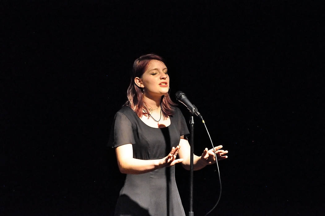 """Horace Langford Jr./Pahrump Valley Times Jordan Torres performs """"Somebody that I Used to Know ..."""
