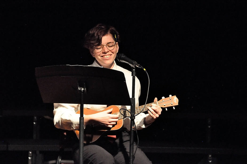 """Horace Langford Jr./Pahrump Valley Times Calista Witten performs """"Darling Dear"""" during the Pa ..."""