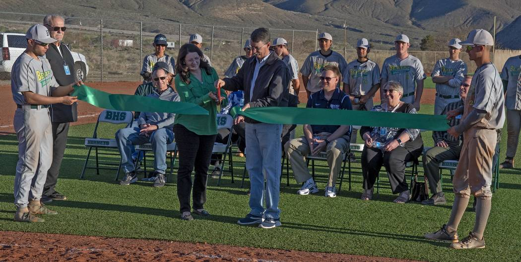 Richard Stephens/Special to the Pahrump Valley Times Beatty High School baseball players Geo Ma ...
